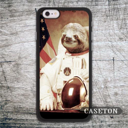 Astronaut Sloth Funny Case For iPhone 7 6 6s Plus 5 5s SE 5c and For iPod 5 High Quality Classic Protective Cover Wholesale