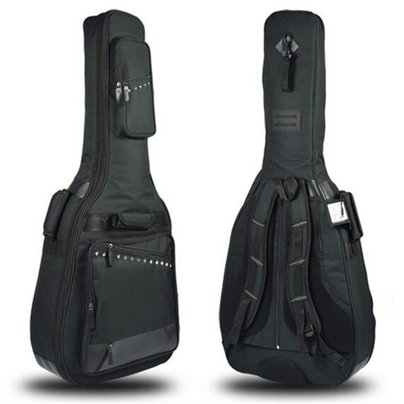 High quality Oxford guitar bag for classic / folk guitar thickened sponge Acoustic guitar case 38/39 40/41 guitar accessories pattern thicken waterproof soprano concert tenor ukulele bag case backpack 21 23 24 26 inch ukelele accessories guitar parts gig