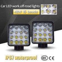 1 Pair 42/48w LED Car Light Warm White LED Lamps For Cars SUVs 6500K Auto Fog Light with Mount Vehicle LED Headlight Bulbs