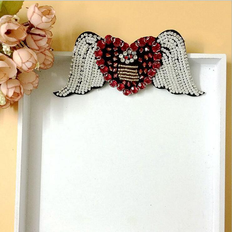 Detail Feedback Questions about Sequined Love wings Patch for ... 9dc74baff4bd