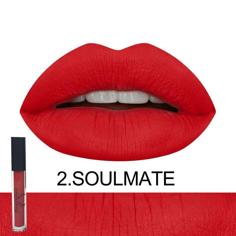 Matte Lip Gloss Long Lasting Waterproof Non-Stick Cup Velvet Lip Gloss Liquid Lipstick 5