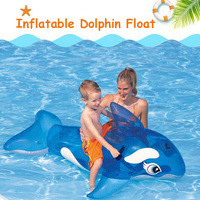 59 Inches Inflatable Dolphin Float Whale Pool Toys Ride on Swimming Circle Water Mattress Boia Piscina Party For Child Adult