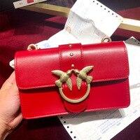 Genuien из коровьей кожи Ласточка сумка для женщин модные красные сумки на плечо дизайнер