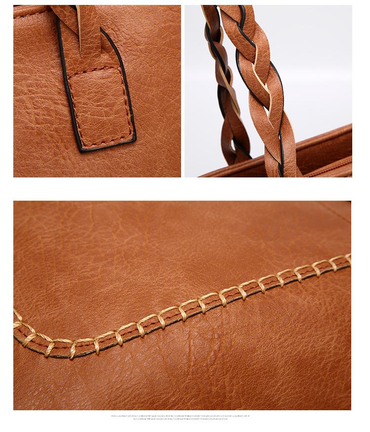 Tinkin  Vintage PU Tassel Women Shoulder Bag Female Retro Daily Causal Totes Lady Elegant Shopping Handbag 13