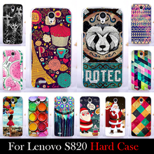 For LENOVO S820 4 7 inch Case Hard Plastic Mobile Phone Cover Case DIY Color Paitn