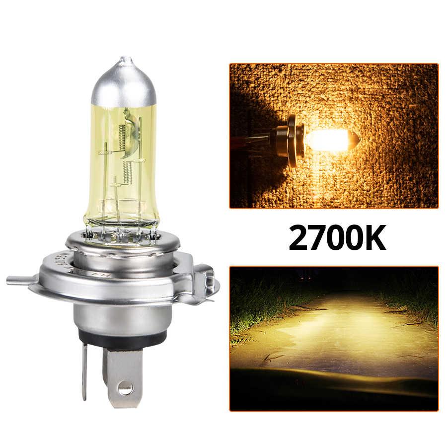Foxcnsun 1PCS Yellow Car Halogen Lamp 55W 100W H4 H7 Auto Halogen Bulb Fog Lights 12V  3000K 2700K  Headlights Lamp moto lamp