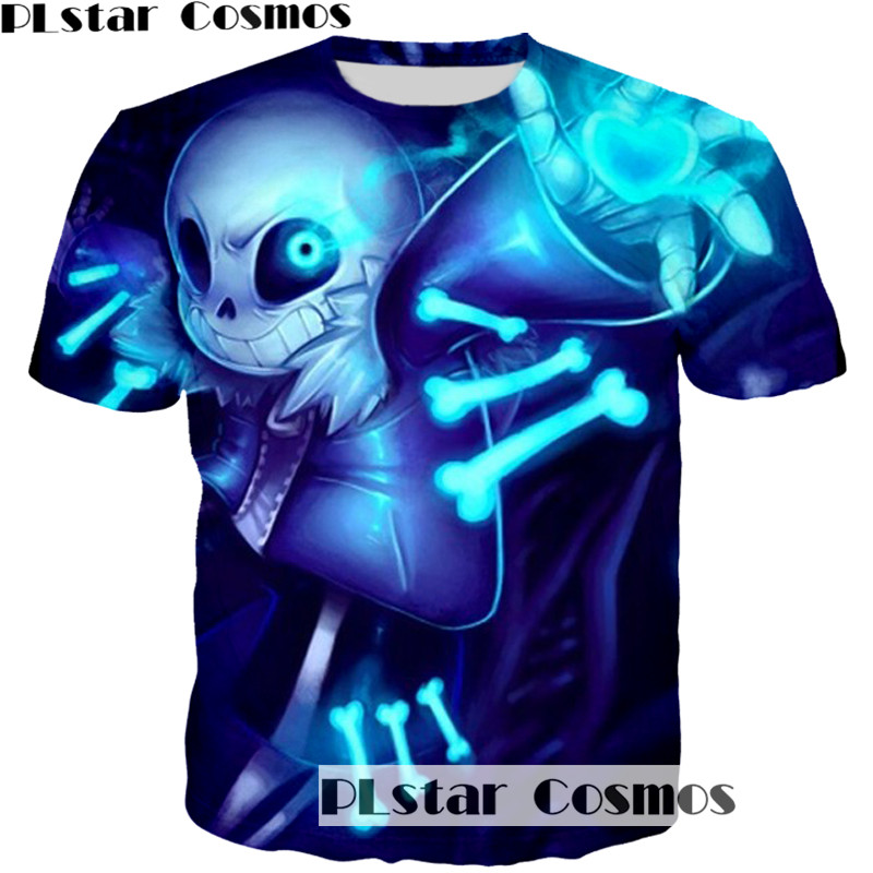 PLstar Cosmos 2017 Neue Undertale Sans muster unisex t-shirt 3D printing mode für männer frauen t-shirt harajuku tops