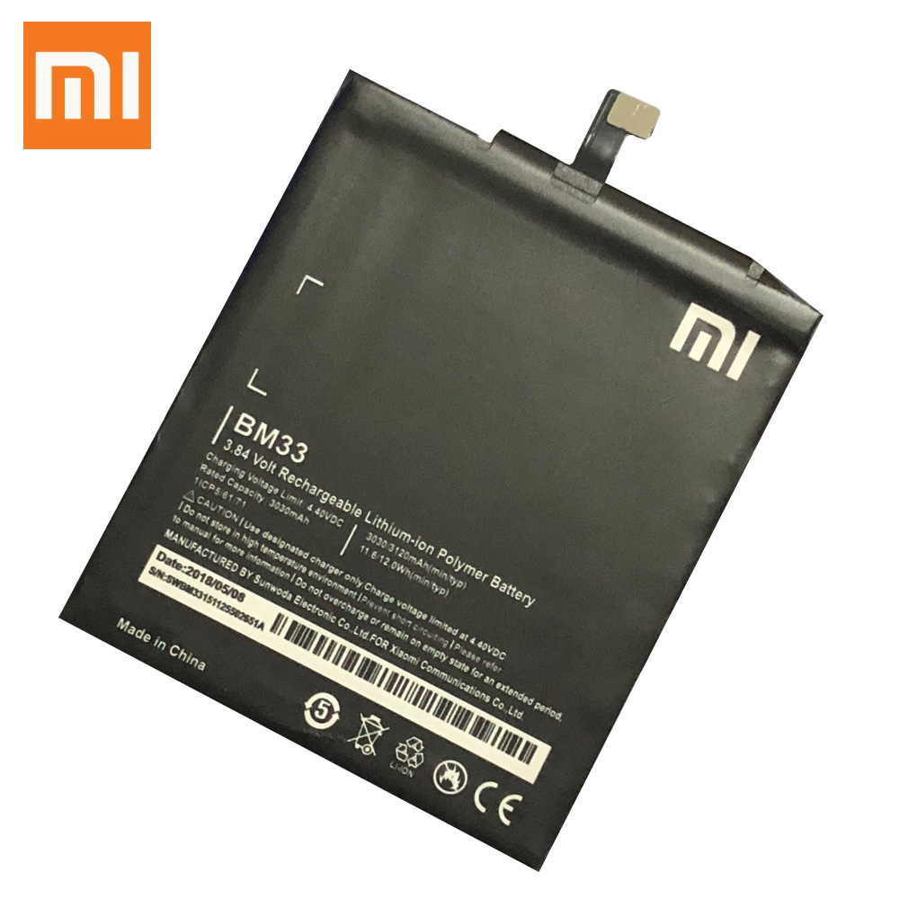 Xiao <font><b>Mi</b></font> Original Phone <font><b>Battery</b></font> BM33 for XIaomi <font><b>Mi</b></font> <font><b>4i</b></font> Mi4i M4i 3120mAh Replacement <font><b>Batteries</b></font> image