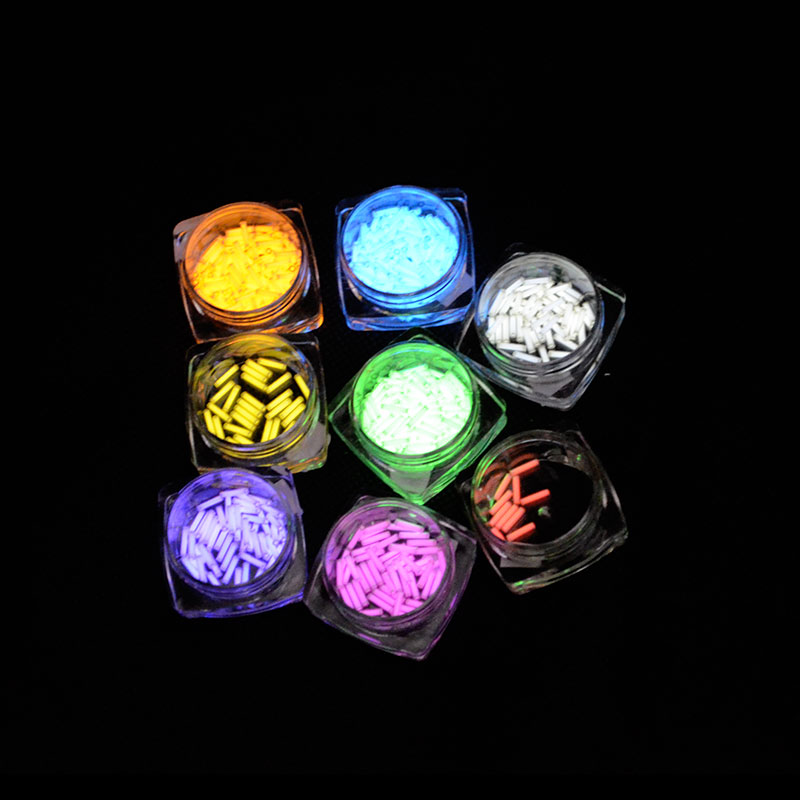 1pc 1.5mm*6mm Tritium Tube Automatic Light 15 Years Tritium Keychain Key Ring EDC Tube Lifesaving Emergency Lights