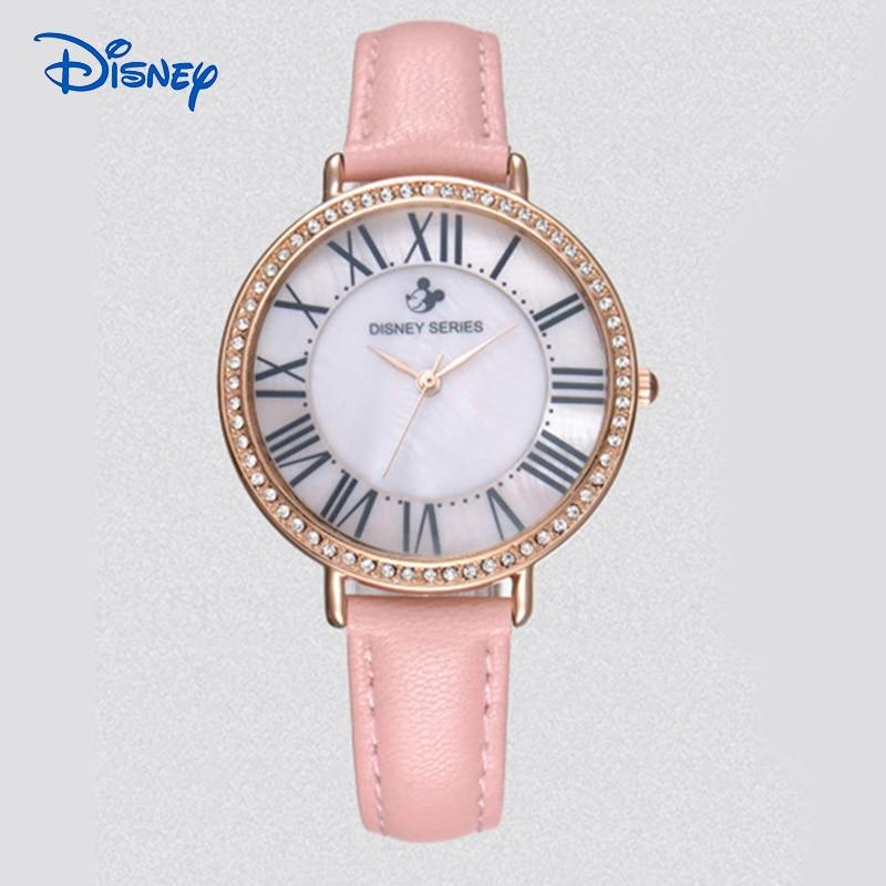 New Fashion Brand DISNEY Women Casual Quartz Watch Clock Lady Girl Diamond Analog Dress Watch Relojes