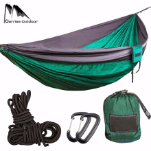 300*200cm Portable Camping Parachute Hammock Survival Garden Outdoor Furniture Leisure Sleeping Hamaca Travel Double Hanging Bed