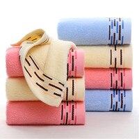 100% algodão tecido facial sente sensação suave 34x73 cm terry do algodão facial toalha de banho cor sólida toalha cor é brilhante