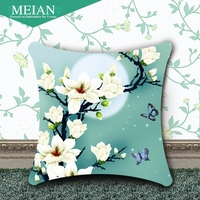 States Coast 3D Accurate Printing Cross Stitch Pillow On A New Jade Orchid Living Room