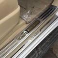 Estilo del coche para Toyota land cruiser prado 150 accesorios 2010-2013 automático de acero inoxidable protector de la placa del desgaste del travesaño de la puerta guardia