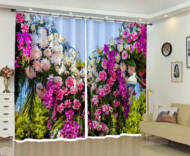 Customizable Blackout Curtains Drapes fresh flowers  3D Print Window decorate For Living room Bed room Office Hotel Wall TapestrCustomizable Blackout Curtains Drapes fresh flowers  3D Print Window decorate For Living room Bed room Office Hotel Wall Tapestr