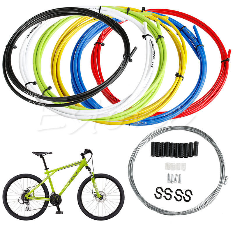 Bike Bicycle Front Rear Inner Outer Wire Brake Gear Shifter Cable Housing Kit hot