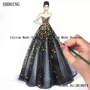 EBDOING Link Wedding-Dress Customize for with Request Fee Contact Before Buying
