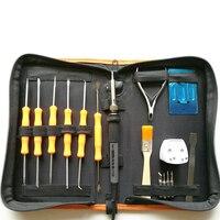 3C Certification Electric 50W Solder Soldering Iron Kit Ferro Solda Welding Tools With Solder Assist Set