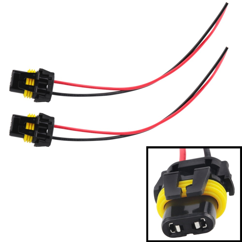 2pcs Universal Power Cord 9005 HB3 9006 HB4 H10 Female Adapter Wiring  Harness Sockets Cable for Headlight Fog LED Light Bulb -in Cables, Adapters  & Sockets ...