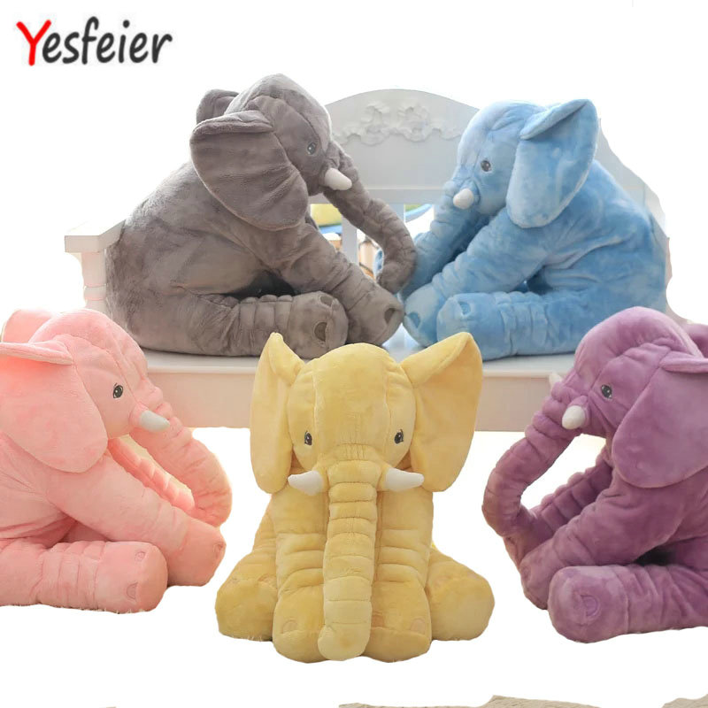 38/60cm 6 colors Baby Animal Elephant Style Doll Stuffed Elephant Plush Pillow Kids Toy for Children Room Bed Decoration Toys