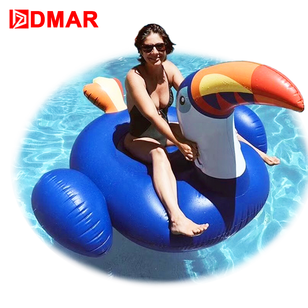 DMAR 200cm 78inch Inflatable Toucan Giant Pool Water Float Toys Unicorn Swimming Ring Circle Inflatable Mattress Sea Water Party 5m 4m 4m float unicorn water park inflatable water island inflatable iceberg for funny games inflatable ice tower