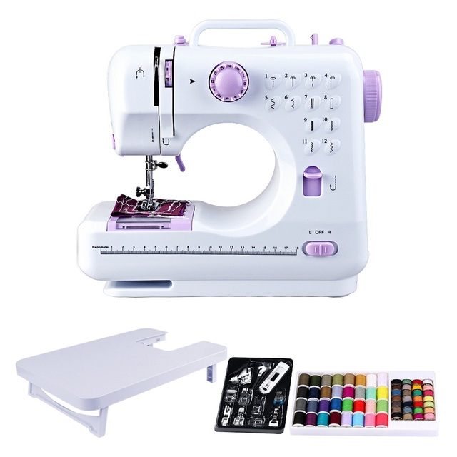 Fanghua Mini 12 Stitches Sewing Machine + Table+ Presser Feet Set + Thread Set Sended from Russia