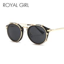 Royal Girl Sunglasses Women Arrow Leg Classic Retro Round Shades Male Vintage Brand Designer Unisex Gafas de sol Goggles ss300