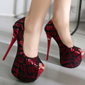 Sexy Peep Toe Heels Wedding Shoes Women Pumps Extremely High Heels Platform Shoes Thin Heel Open Nose Sandals With Heels