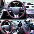 Embroidery Car Steering Wheels Cover 38CM  Styling Car-covers Auto Interior Decoration Accessories For KIA HYUNDAI TOYOTA HONDA