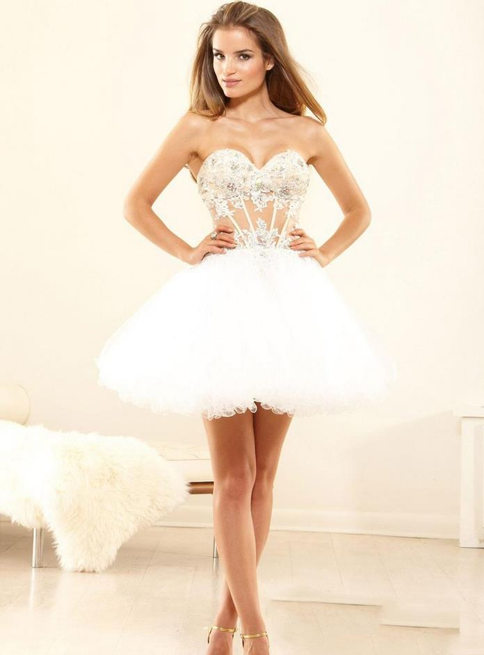 Popular Cheap White Homecoming Dresses-Buy Cheap Cheap White ...