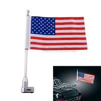 Motorcycle American Flag Pole CNC Aluminum Vertical Flagpole Mount Kit Luggage Rack For Honda Goldwing GL1800 GL1200 2001 2011