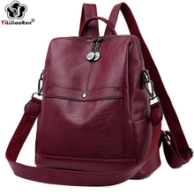 Famous Brand Leather Backpack Luxury Backpack Female Large Capacity Bookbag School Bag Simple Shoulder Bags for Women Mochila