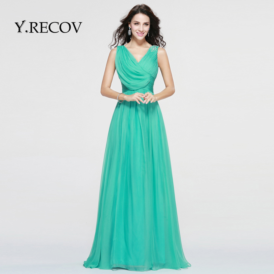 Couture Evening Gowns And Dresses: Designer Evening Gown Patterns YD2315 A Line V Neck Blue
