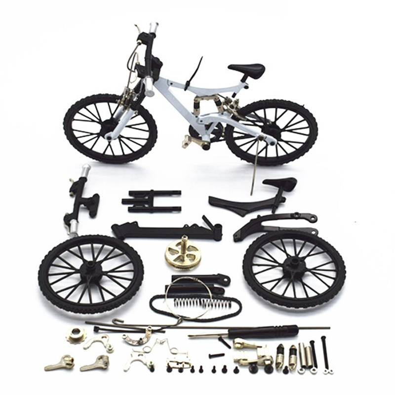 Warna putih Baru kedatangan DIY buliding mainan 3D paduan model sepeda (DIYB-1W)