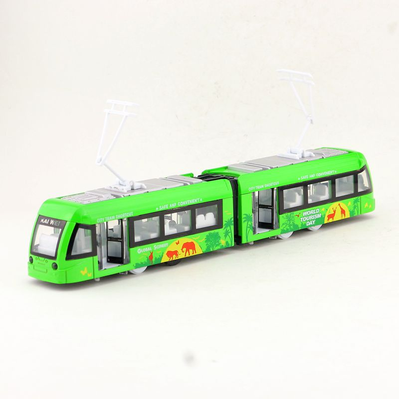 Free Shipping/Diecast Toy Model/Underground Subway Train Tram/Pull Back/Sound & Light Car/Educational Collection/Gift For Kid(China)