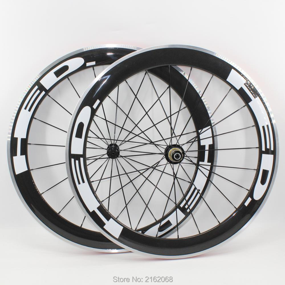 Brand New 700C 60mm clincher rim Road bike 3K carbon fibre bicycle wheelset with alloy brake surface carbon wheelsets Free ship brand new 700c 60mm clincher rim road bike 3k carbon fibre bicycle wheelset with alloy brake surface carbon wheelsets free ship