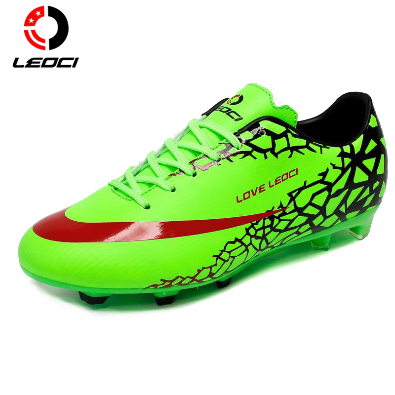 LEOCI Anti-Collision Training Shoes F Football Shoes Boots Soccer Boots Botas De Futbol  for Men/Women/Children Size 33-44 maultby kid s boy children blue black ag sole outdoor cleats football boots shoes soccer cleats s31702b