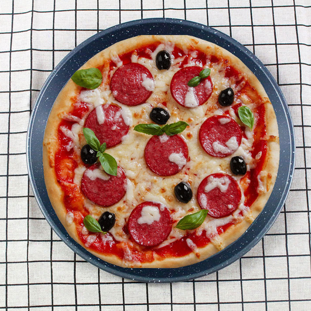 8 Inch Aluminium Alloy Round Pizza Pan Plate Pie Tray Stone Anode Kitchen Oven Baking Tools