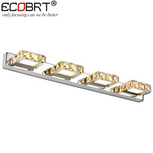 New Year Modern 12W 62CM LED indoor wall light lamp banheiro deco bathroom mirror crystal sconce lamps for home