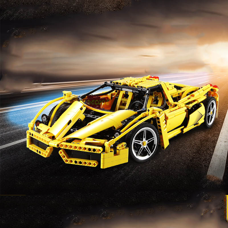 Legoinglys 8653 technic car Formel Geschwindigkeit Champions Racer Auto Modell Bausteine Stadt Avion MOC F1 Enzoed décool 3382