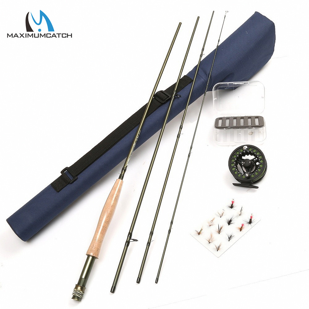 9FT 5WT Fly Fishing Rod And Aluminum Fishing Reel Combo