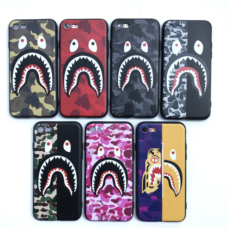 Shark camouflage 3D bape Soft phone cases for iphone 5 5S