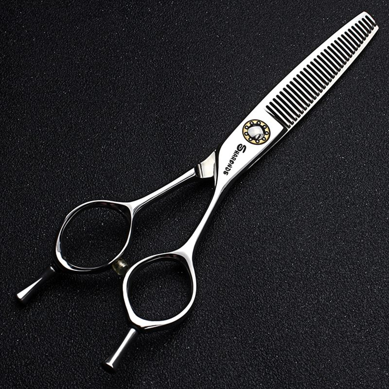 Professional Silver Salon Hairdressing scissors for barbershop 6.0 440c Sharp hair cutting shear thinning scissors barbearia kit