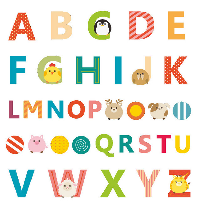 Cartoon Animal Learning To Read Letters Education Alphabet Wall Sticker School Kids Rooms Home Decor Home Decoration Wallpaper Alphabet Wall Stickers Wall Stickerdecor Wallpaper Aliexpress