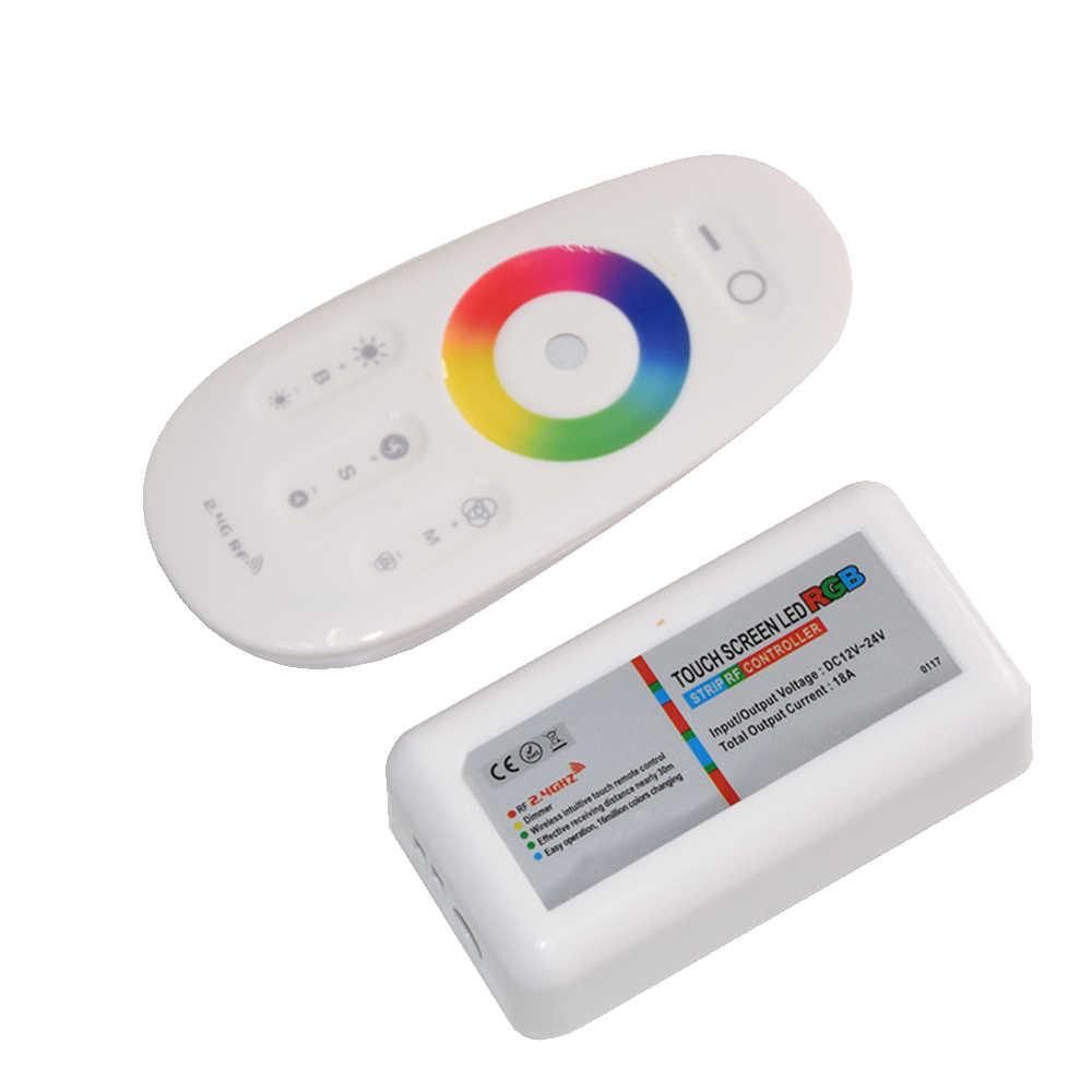 Télécommande 6A d'écran tactile de cc 12 V 24 V RGBW rvb LED de contrôle RF par canal pour le downlight d'ampoule de bande de smd 5050 LED