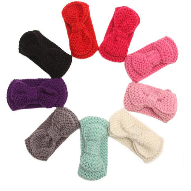 Crochet Pattern Bow Earwarmer Baby Girls Winter Wear Baby Knit Bow