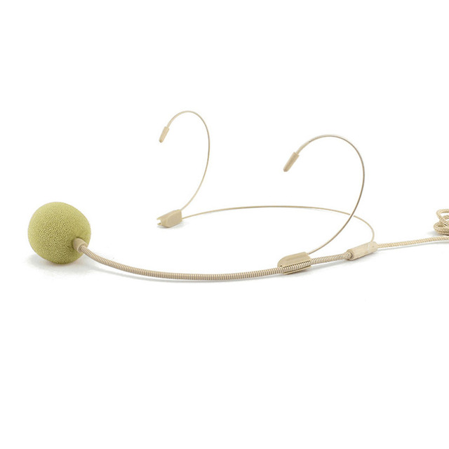 المهنية سماعة الرأس 3.5 مللي متر السلكية ميكروفون مكافحة التدخل واضح الحساسة UHF عالية الدقة
