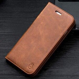 Image 2 - Musubo Cuero auténtico Flip caso 8 más para el iPhone 7 Plus funda cartera cubierta del soporte para el iPhone 6Plus 6s 5 5S se Carcasas funda iphone X carcasa iphone  8 Plus Case Cover Caque Capa
