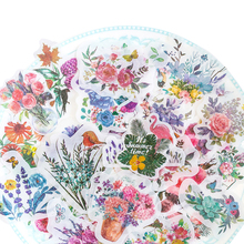 60pcs/pack Flower Stickers Vintage Memory Series Stationery Decorative Children DIY Diary Scrapbooking Label Gifts