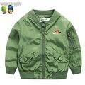 Bebé chaqueta de abrigo de otoño de moda infantil de dibujos animados bebé chaqueta chaquetas ropa 2016 de los niños niño uniforme de béisbol
